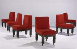 382: PAUL EVANS Set of six dining chairs