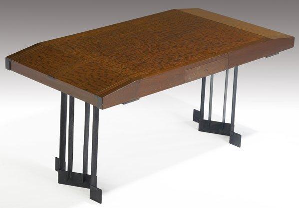 600: PIERRE CHAREAU Desk in bubinga and mahogany c1927