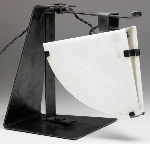 602: PIERRE CHAREAU Desk lamp with alabaster diffusers