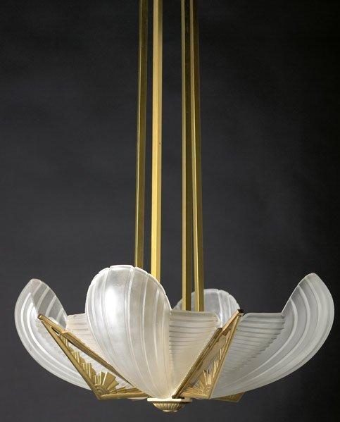 604: ATELIER PETITOT Cast bronze ceiling fixture
