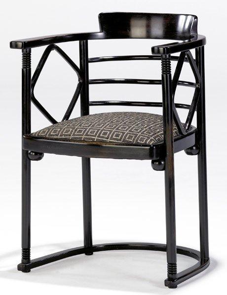 608: JOSEF HOFFMANN / J & J KOHN Bentwood armchair