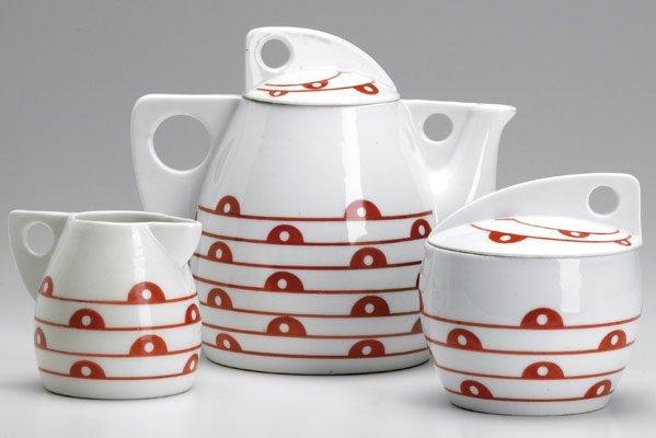 610: JUTTA SIKA / KOLOMON MOSER 3-pc. porcelain tea set