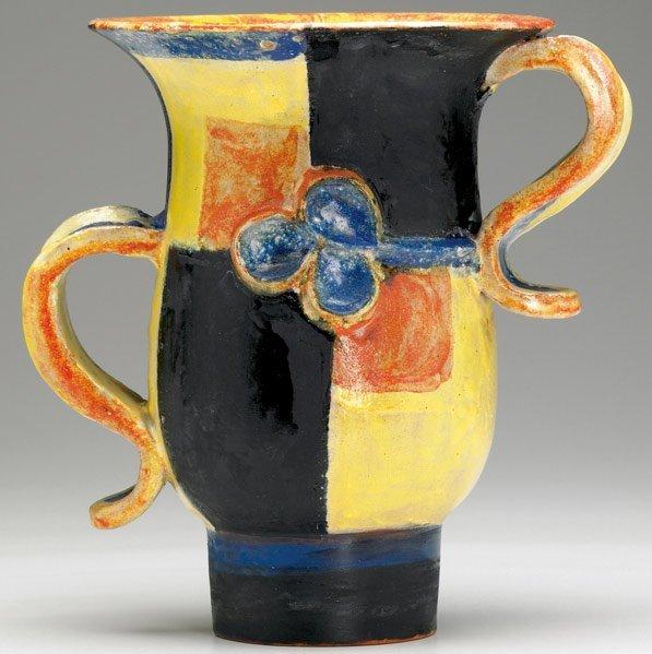 612: VALLY WIESELTHIER / WIENER WERKSTATTE Ceramic vase