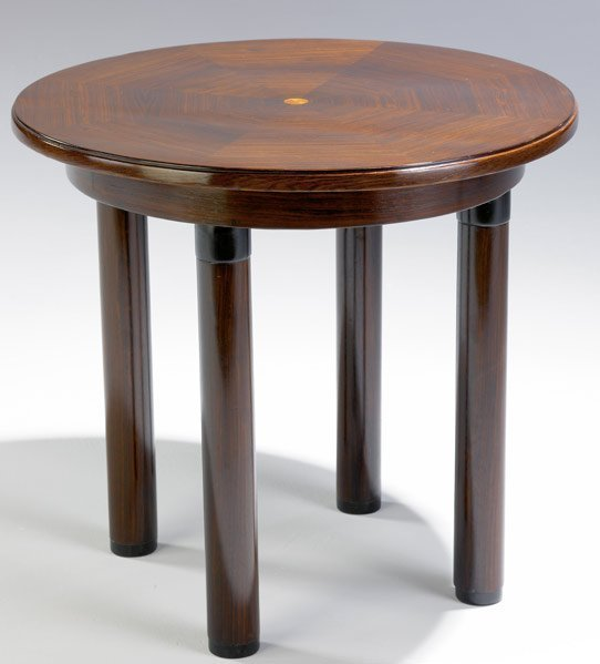 615: AUSTRIAN ART DECO Table in rosewood and fruitwood