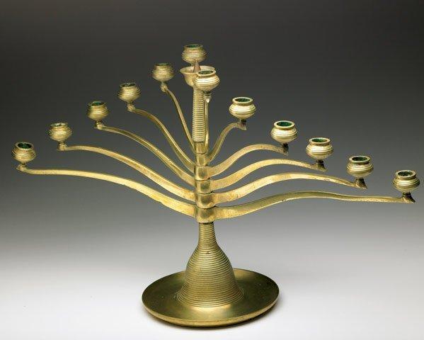 619: EARLY MODERN MOVEMENT Cast brass candelabrum