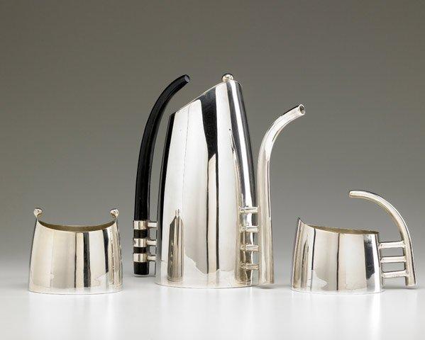 622: LINO SABATTINI 3-pc. silverplated tea set