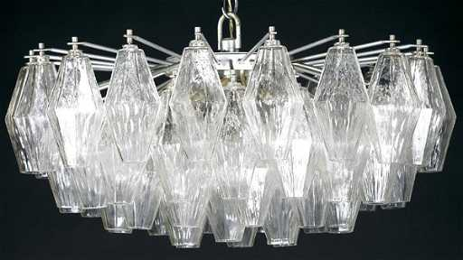 719 venini chandelier with polyhedral glass drops aloadofball Images
