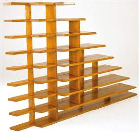 800: FRENCH Mahogany stepped shelving unit
