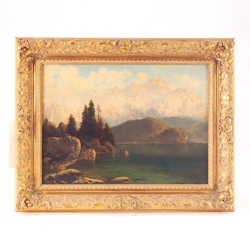 4: Joseph Von Schlogl (German, 19th c.), Mountainous La