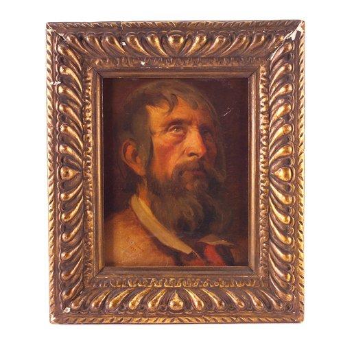 5: R. de Madrazos, portrait of a man, oil on canvas, 14