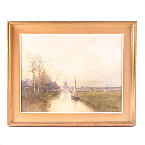 6: Charles P. Gruppe (American, 1860-1940) Dutch canal