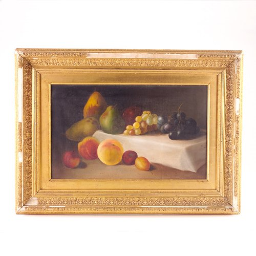 7: American still life with fruit, 19th c., oil on canv