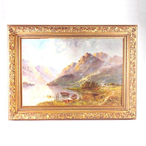 13: Campbell Scott European landscape, 20th c., oil on