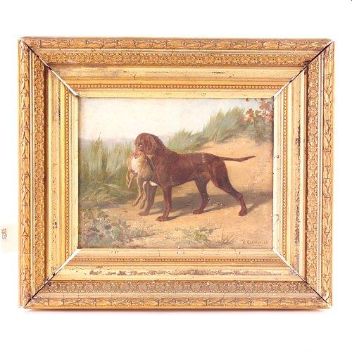 14: Conradyn Cunaeus (Dutch, 1828-1895) sporting dog wi
