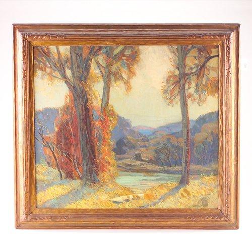 16: Carl Rudolph Krafft (American, 1884-1938) autumn tr