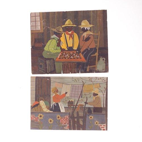 294: J. Hatch (American School) two paintings on board