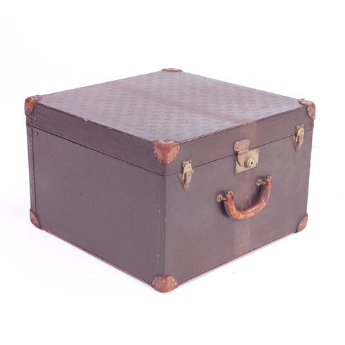 315: Rare Louis Vuitton small traveling trunk. Wear to