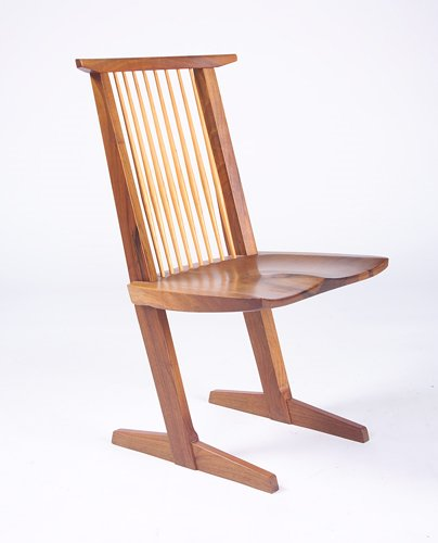 4: GEORGE NAKASHIMA Fine Conoid chair in Persian Walnut