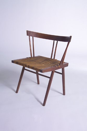 """7A: GEORGE NAKASHIMA Prototype """"Grass Seat"""" chair, 1947"""