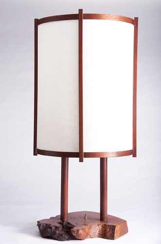 8: GEORGE NAKASHIMA Fine and early table lamp, c. 1956,