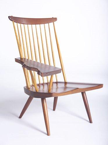12: GEORGE NAKASHIMA Lounge chair with one free-edge wr