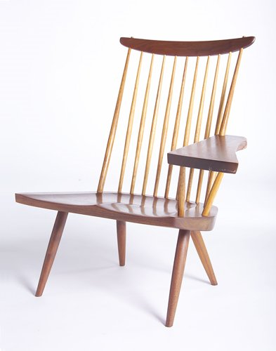 13: GEORGE NAKASHIMA Lounge chair (left hand), en suite