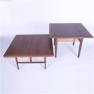 GEORGE NAKASHIMA/WIDDICOMB Two side tables, one wi