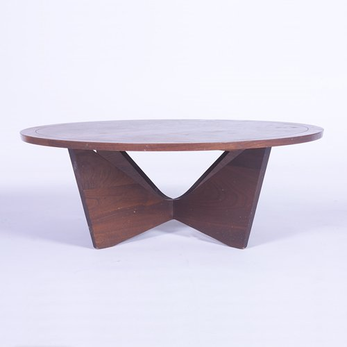 802: GEORGE NAKASHIMA/WIDDICOMB Coffee table on butterf