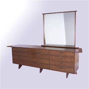 GEORGE NAKASHIMA/WIDDICOMB Twelve-drawer chest wit