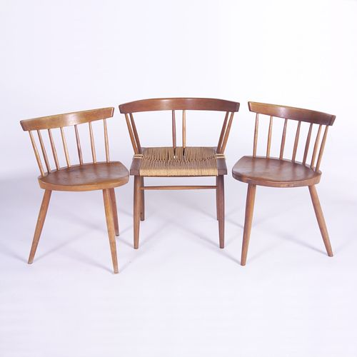 GEORGE NAKASHIMA Three chairs: one Grass Seat, and