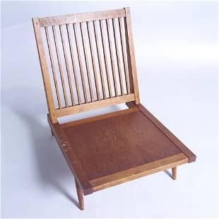 GEORGE NAKASHIMA Armless lounge chair with slatte
