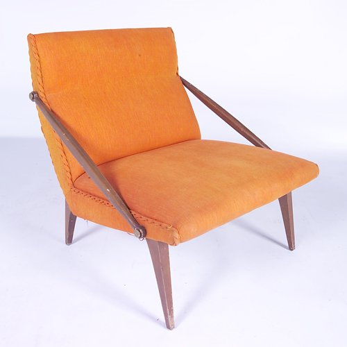 815: GIO PONTI/M. SINGER & SONS Armless lounge chair wi