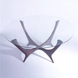 M. SINGER & SONS (Attr.) Coffee table with circula