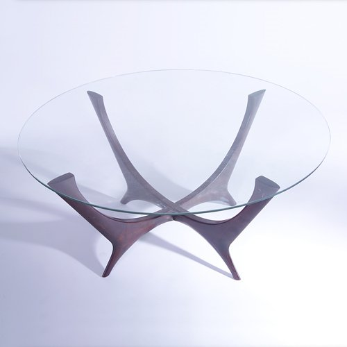 816: M. SINGER & SONS (Attr.) Coffee table with circula