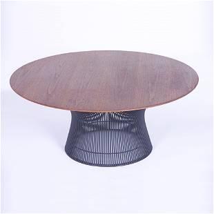 WARREN PLATNER/KNOLL Coffee table with circular wa