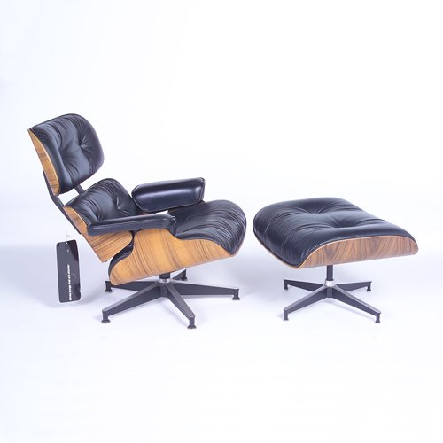 820: CHARLES EAMES/HERMAN MILLER 670 and 671 lounge cha