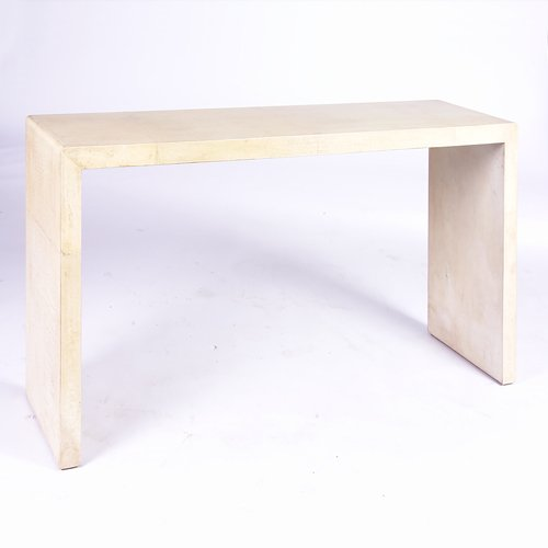 1163: CONSOLE TABLE Console table with slab top and leg
