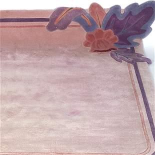 EDWARD FIELDS Custom-designed wool area rug, 1991