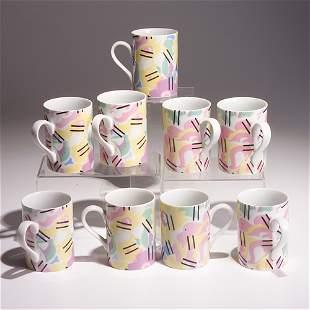 ROBERT VENTURI/SWID POWELL Set of nine ceramic mu