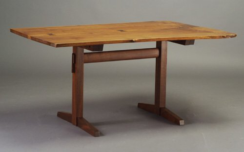 8: Fine GEORGE NAKASHIMA walnut trestle dinin