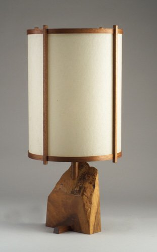 10: Fine GEORGE NAKASHIMA table lamp with cyl