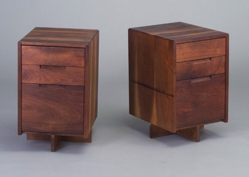 17: Pair of GEORGE NAKASHIMA walnut three-dra