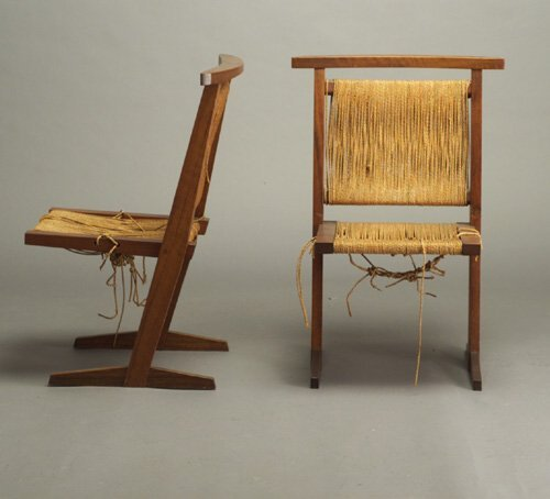 501: Four Conoid-style dining chairs in the m