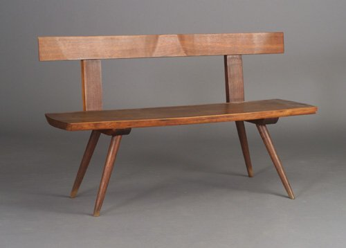 502: Walnut bench in the manner of Nakashima