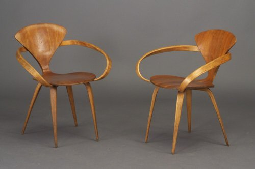 507: Six NORMAN CHERNER for PLYCRAFT molded p