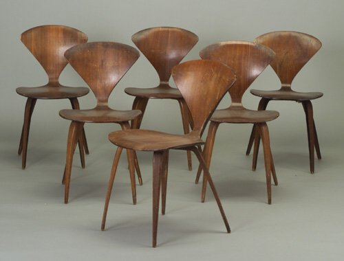 508: Six NORMAN CHERNER for PLYCRAFT molded p