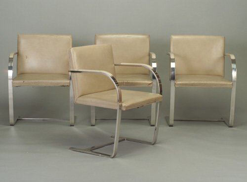 """510: Four MIES VAN DER ROHE for KNOLL """"Brno"""""""