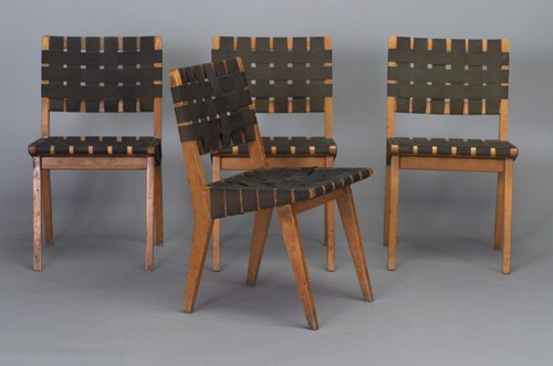 511: Four early JENS RISOM for KNOLL blonde-w
