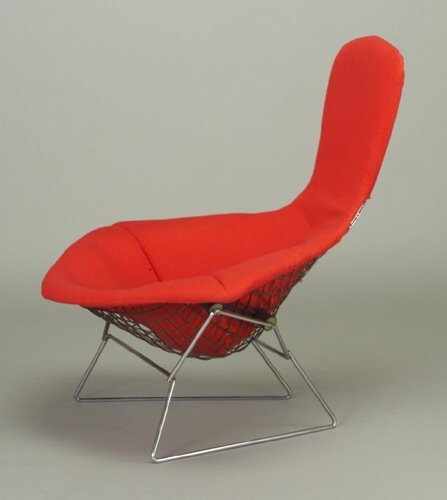 """516: HARRY BERTOIA for KNOLL """"Bird"""" chair wit"""