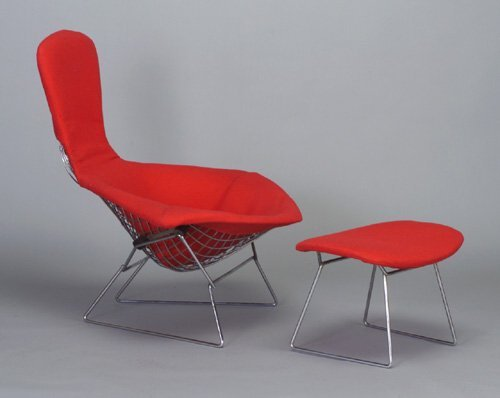 """517: HARRY BERTOIA for KNOLL """"Bird"""" chair and"""